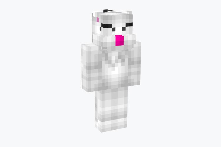 Basic Moogle Fan-made Minecraft Skin