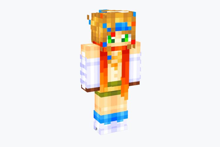 Rikku's outfit from FFX-2 / Minecraft Skin