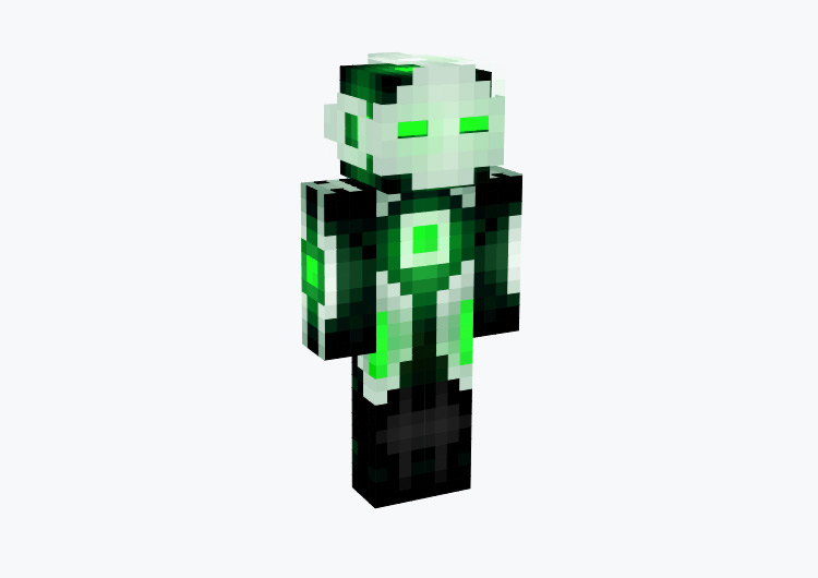 Green Robot Panda / Minecraft Skin