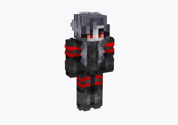 Redstone Girl Robot Character / Minecraft Skin