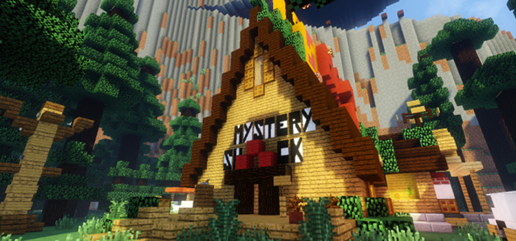 Gravity Falls Mystery Shack Map in Minecraft