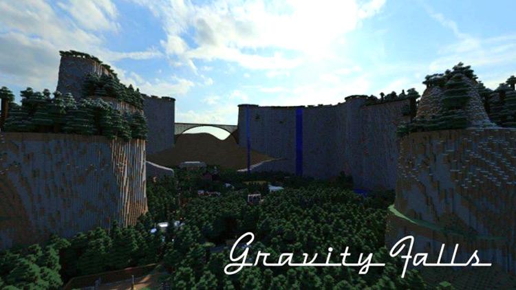 Gravity Falls Adventure Map for Minecraft