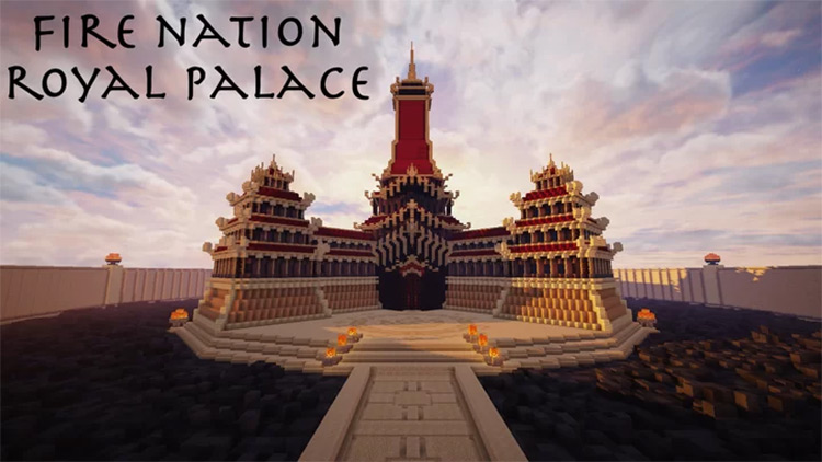 Fire Nation Royal Palace Map for Minecraft
