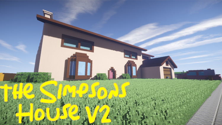 The Simpsons House Map for Minecraft