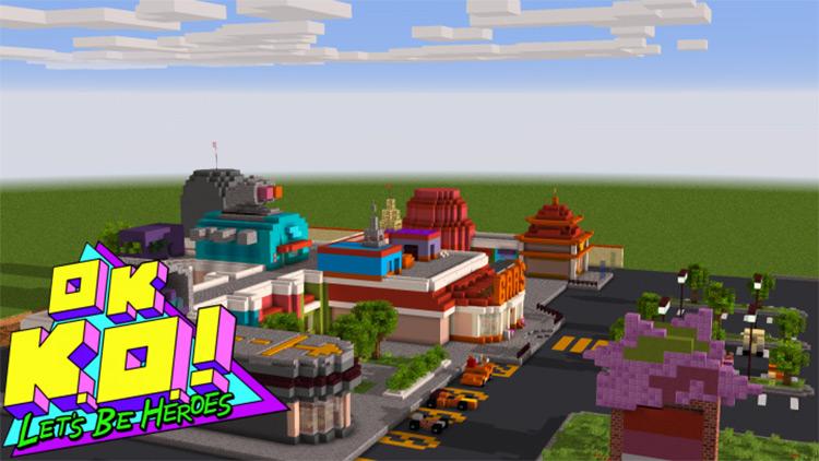 Lakewood Plaza Turbo! OK K.O.! Map for Minecraft