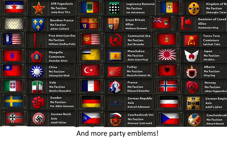 Party Emblem Mod for Hearts of Iron 4