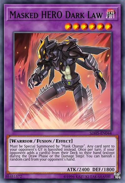 Masked HERO Dark Law YGO Card