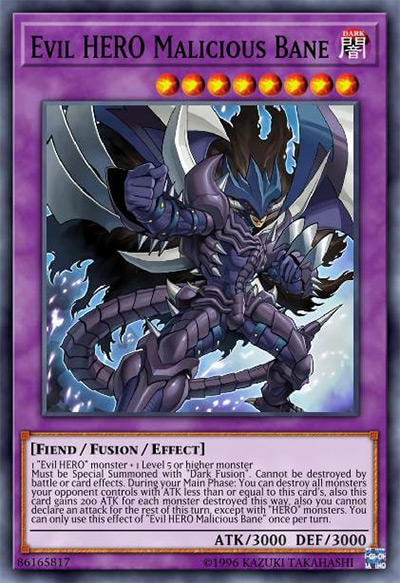 Evil HERO Malicious Bane Yu-Gi-Oh Card