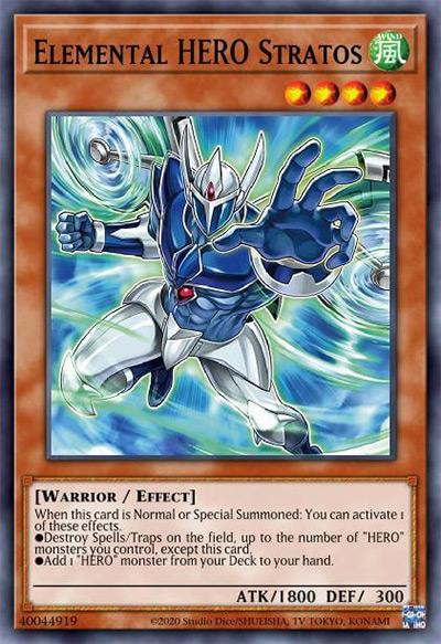 Elemental HERO Stratos YGO Card