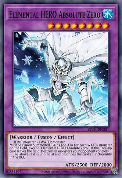 Elemental HERO Absolute Zero Yu-Gi-Oh Card