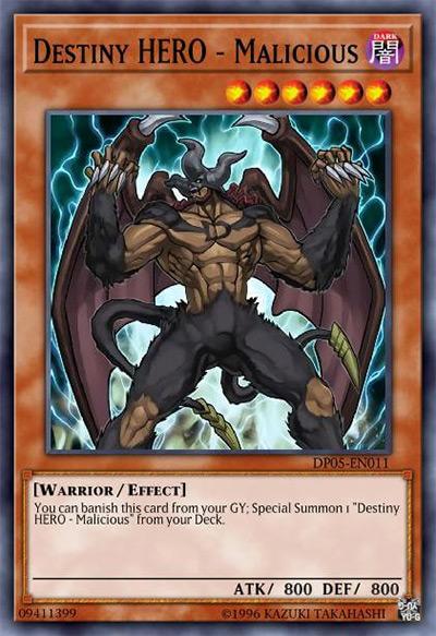 Destiny HERO - Malicious YGO Card