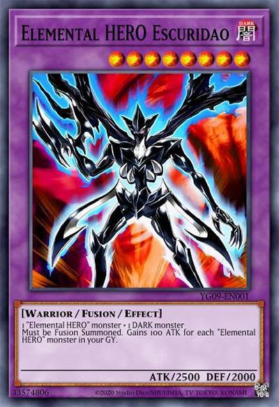Elemental HERO Escuridao Yu-Gi-Oh Card
