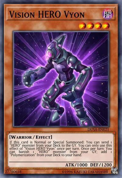 Vision HERO Vyon YGO Card