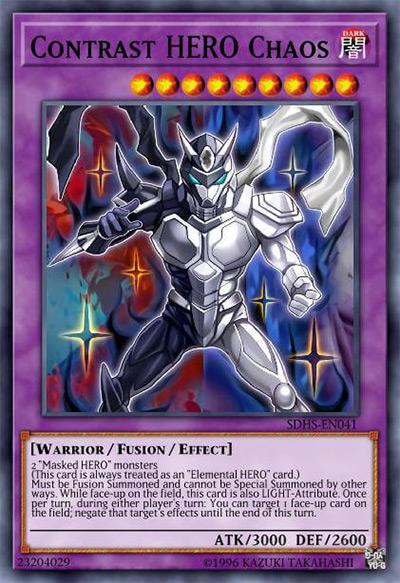 Contrast HERO Chaos YGO Card