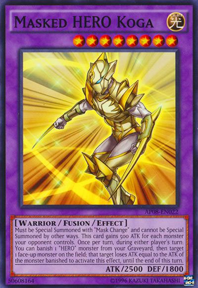 Masked HERO Koga Yu-Gi-Oh Card