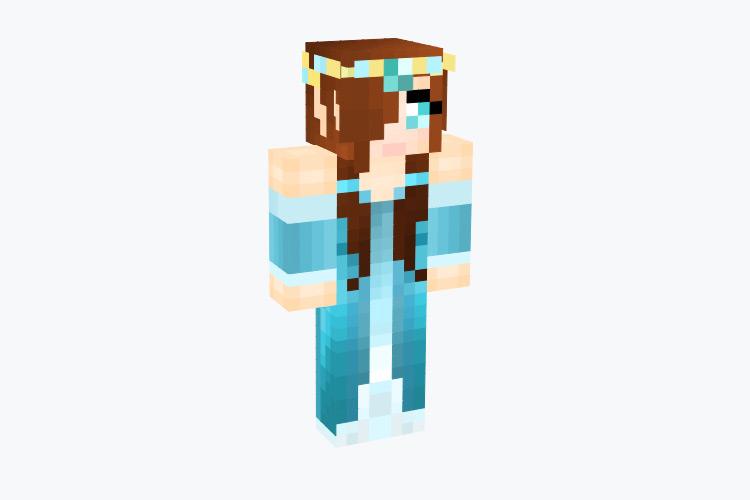 Elf with Diamond and Blue Dress / Minecraft Skin