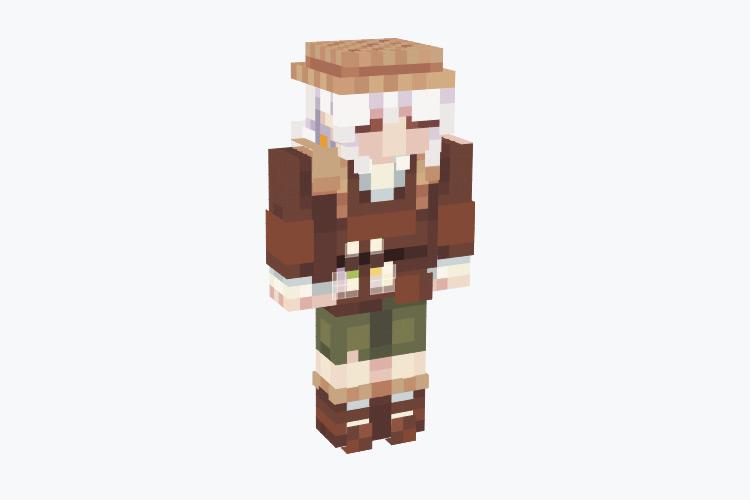 White-haired farmer male elf / Minecraft Skin