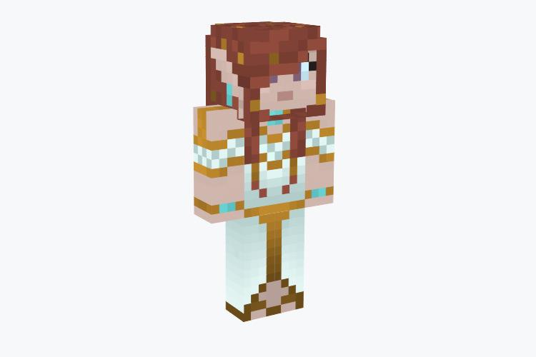 Elf Priestess with Brunette Hair / Minecraft Skin