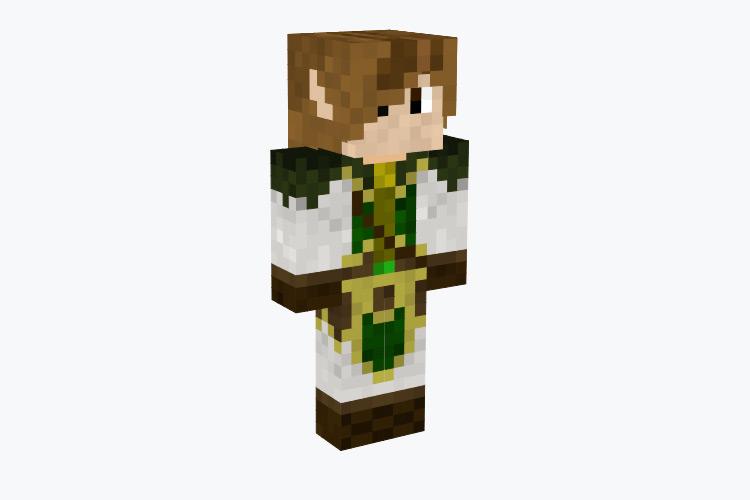 Male Elf Warrior with Brown Hair / Minecraft Skin