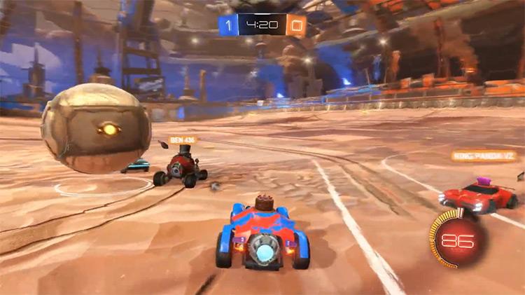 Rocket League multiplayer game screenshot