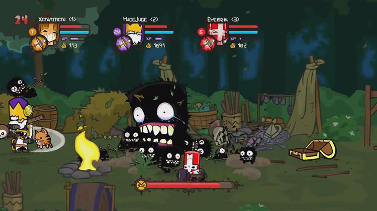 Castle Crashers Remastered multiplayer gameplay