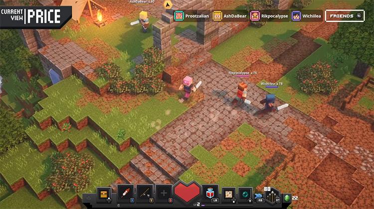 Minecraft Dungeons multiplayer Xbox One gameplay
