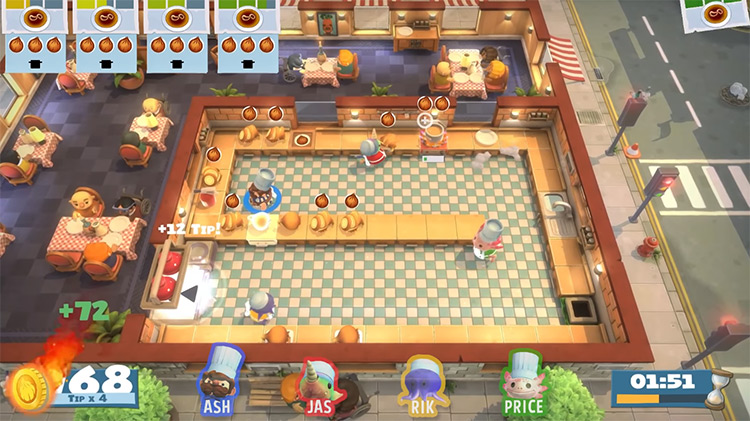 Overcooked: All You Can Eat multiplayer gameplay