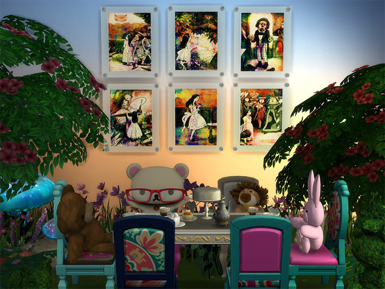 Vintage Alice in Wonderland Art for The Sims 4