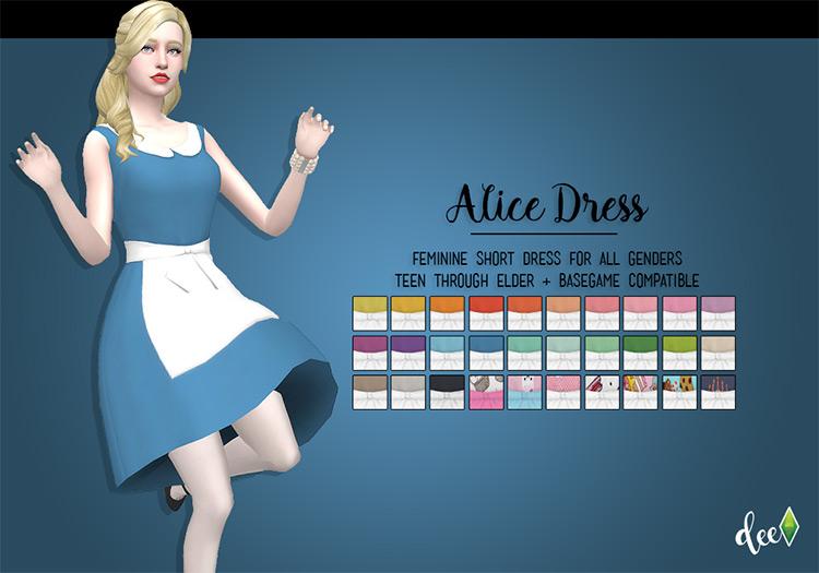 Simple Alice Dress / TS4 CC