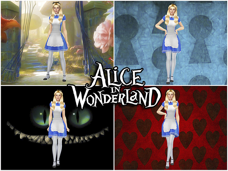 Alice in Wonderland CAS Backgrounds for The Sims 4