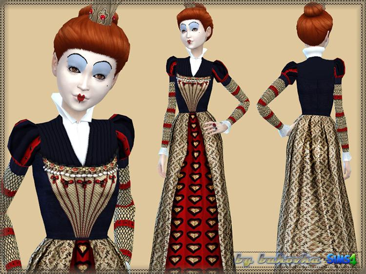 Red Queen Wonderland Set / TS4 CC