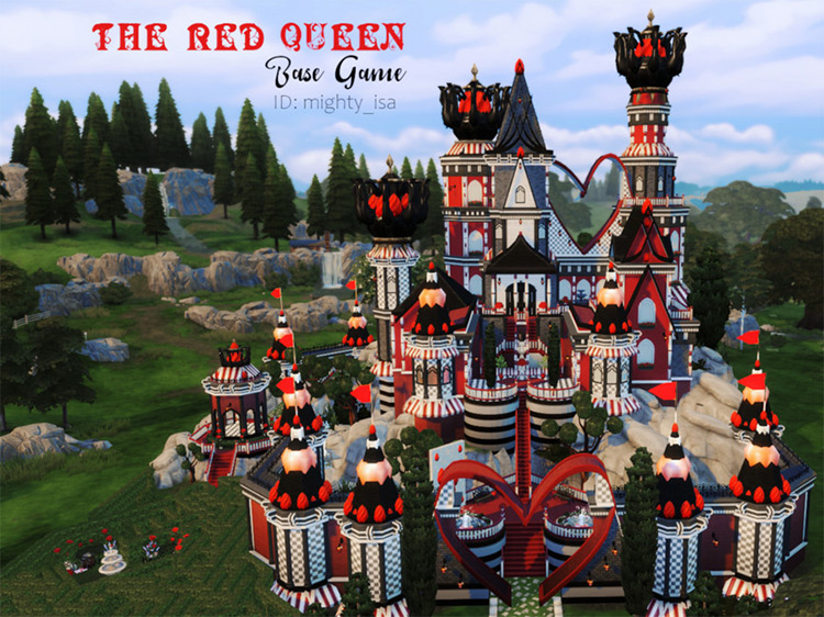 The Red Queen's Castle Lot / Sims 4 CC
