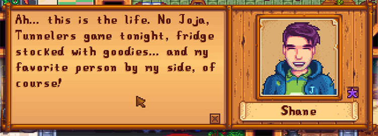 Shaney-er Marriage Dialogue Stardew Valley mod
