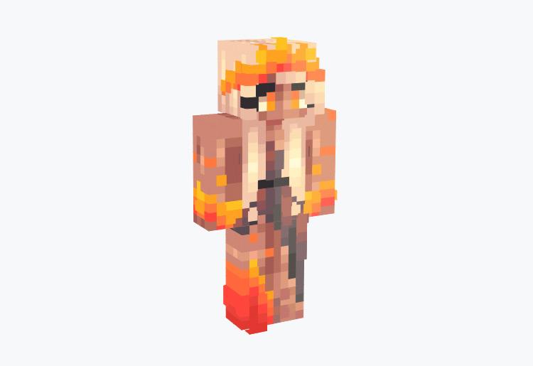 Golden Blonde Fire Brimstone Girl / Minecraft Skin