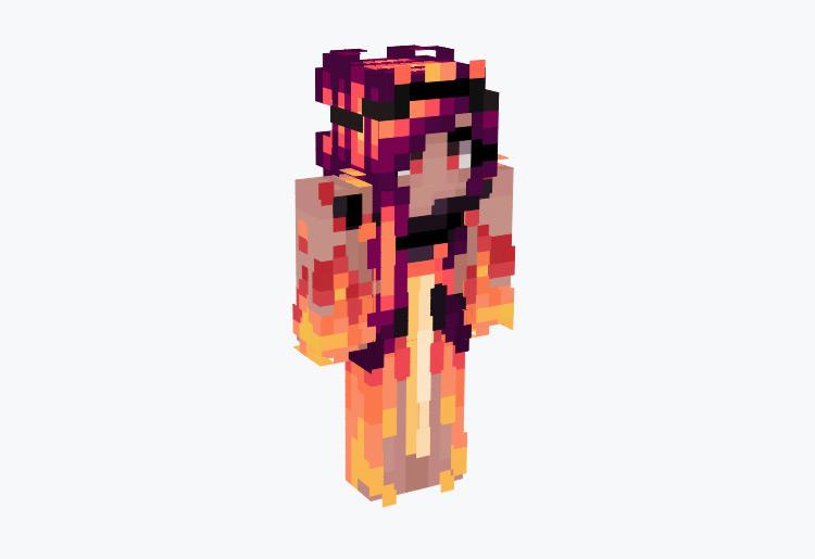 Fire Queen of the Underworld / Minecraft Skin