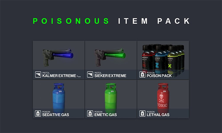 Poisonous Item Pack Mod for Hitman 3