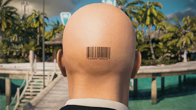 Numbered Barcode Mod for Hitman 3