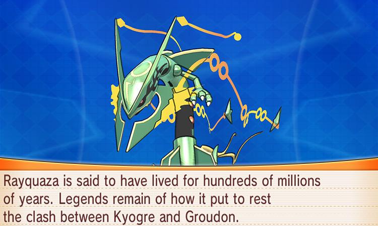 Rayquaza in Pokemon Omega Ruby/Alpha Sapphire