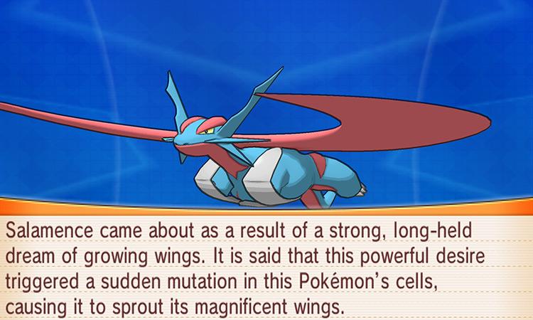 Salamence in Pokemon Omega Ruby/Alpha Sapphire