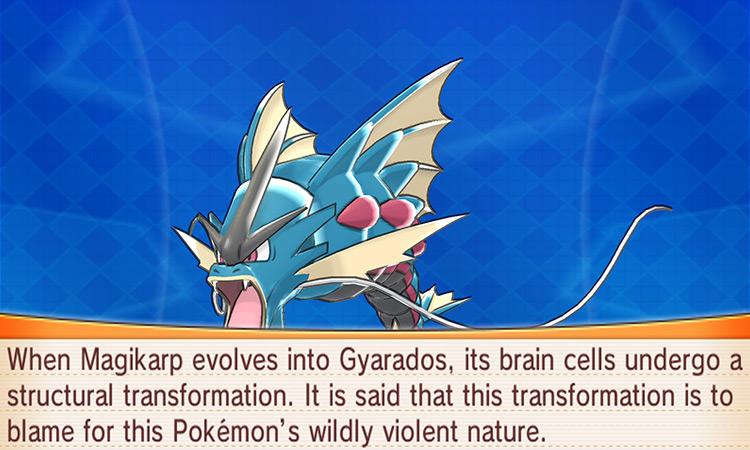 Gyarados in Pokemon Omega Ruby/Alpha Sapphire