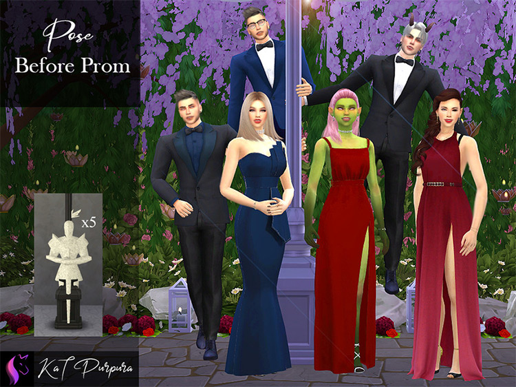 Before Prom Poses for The Sims 4