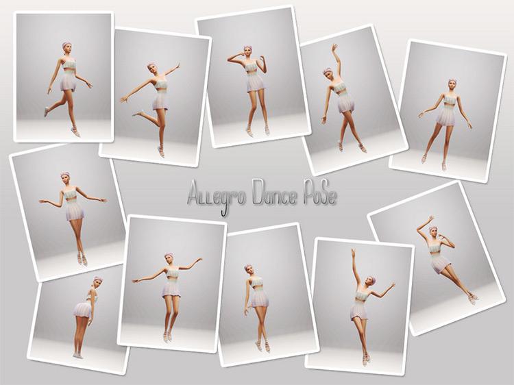Allegro Dance Poses / Sims 4 CC