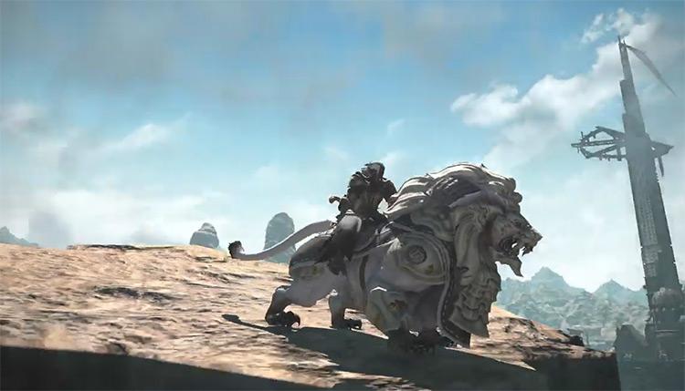 Battle Lion Mount in FFXIV
