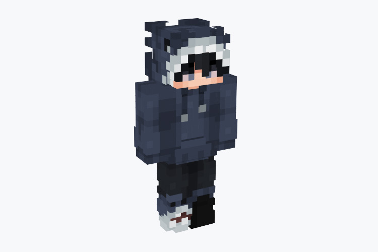 Shark-themed Hoodie Boy / Minecraft Skin