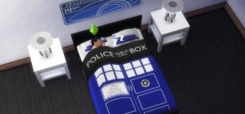 Tardis Dr Who Bedset CC / Sims 4