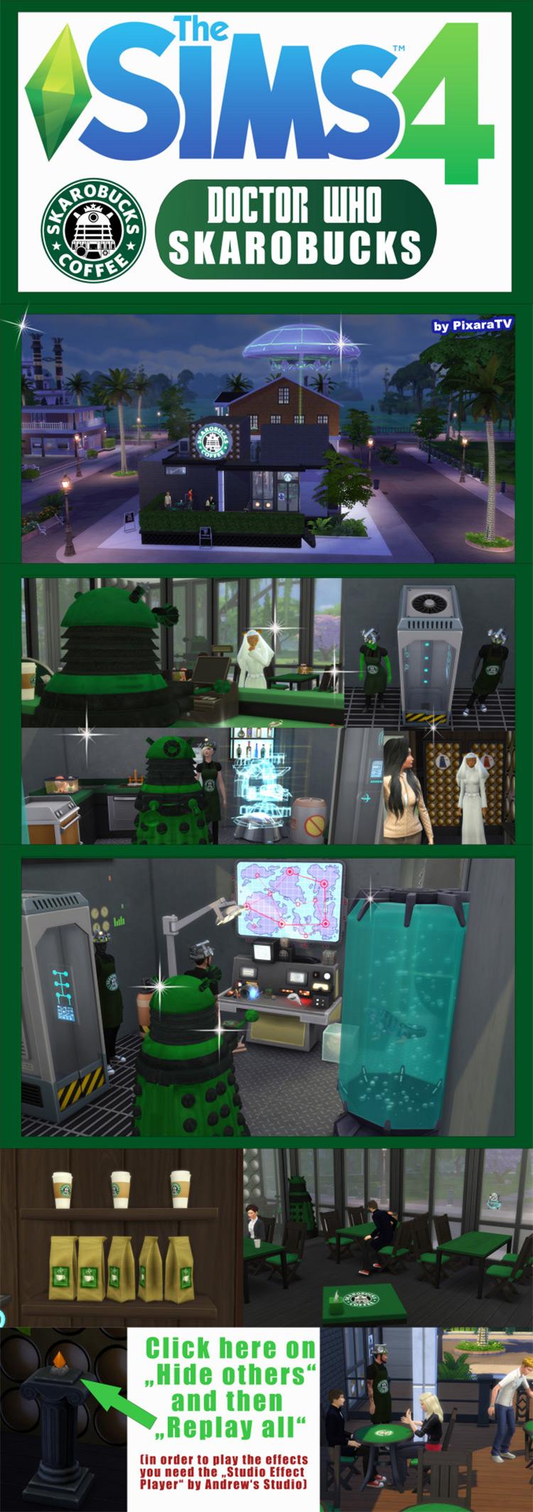 'Skarobucks' Stuff and Lot by Pixara TS4 CC