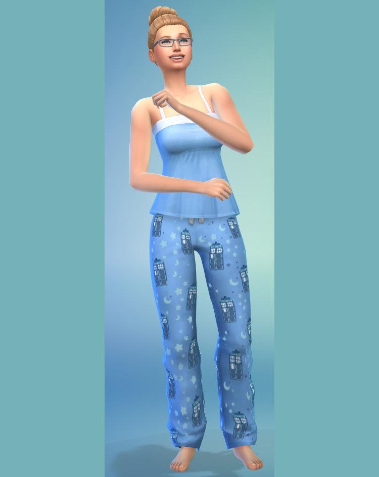 TARDIS Pajamas by saysims for The Sims 4