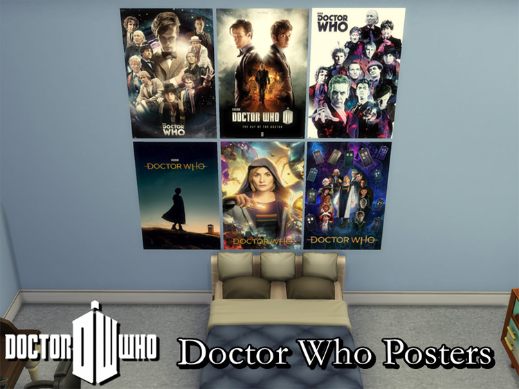 Doctor Who Posters Set / TS4 CC