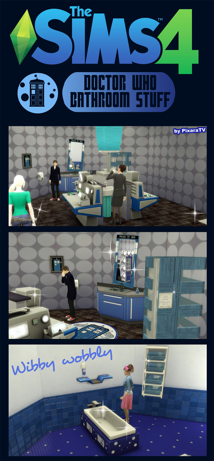 Doctor Who Bathroom Stuff for The Sims 4