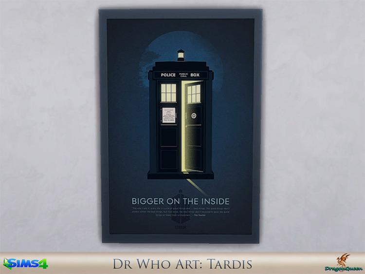 Dr Who Wall Art / Sims 4 CC